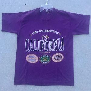 Vintage California T-SHIRT 90s graphic tee purple